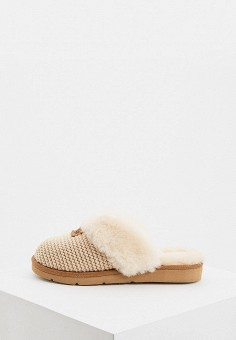 Тапочки, UGG, цвет: бежевый. Артикул: UG002AWFQNA5. Обувь / Домашняя обувь