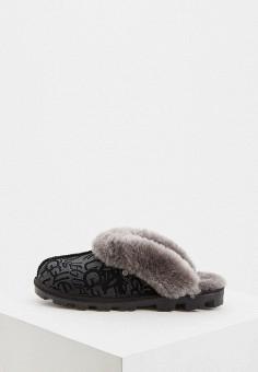 Тапочки, UGG, цвет: черный. Артикул: UG002AWFQNB8. Обувь / Домашняя обувь
