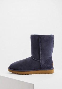 Угги, UGG, цвет: синий. Артикул: UG002AWFQNE3. Обувь / Сапоги / Угги и унты