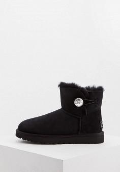 Угги, UGG, цвет: черный. Артикул: UG002AWFQNF1. Обувь / Сапоги / Угги и унты