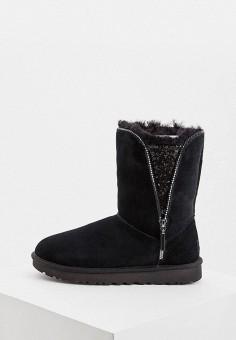 Угги, UGG, цвет: черный. Артикул: UG002AWFQNF5. Обувь / Сапоги / Угги и унты