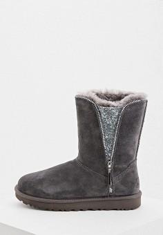 Угги, UGG, цвет: серый. Артикул: UG002AWFQNF6. Обувь / Сапоги / Угги и унты