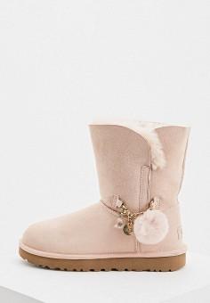 Угги, UGG, цвет: розовый. Артикул: UG002AWFQNF7. Обувь / Сапоги / Угги и унты