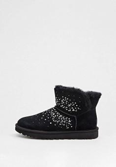 Угги, UGG, цвет: черный. Артикул: UG002AWFQNF8. Обувь / Сапоги / Угги и унты
