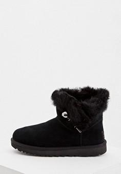 Угги, UGG, цвет: черный. Артикул: UG002AWFQNG0. Обувь / Сапоги / Угги и унты