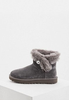 Угги, UGG, цвет: серый. Артикул: UG002AWFQNQ1. Обувь / Сапоги / Угги и унты