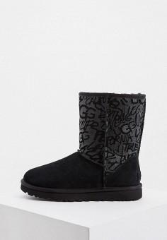 Угги, UGG, цвет: черный. Артикул: UG002AWFQNQ4. Обувь / Сапоги / Угги и унты