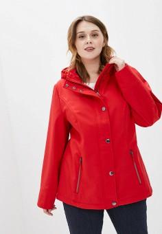 Куртка, Ulla Popken, цвет: красный. Артикул: UL002EWHSEP5. Одежда / Верхняя одежда / Демисезонные куртки