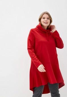 Туника, Ulla Popken, цвет: красный. Артикул: UL002EWHSEP8. Одежда / Туники
