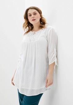 Блуза, Ulla Popken, цвет: бежевый. Артикул: UL002EWHSEQ6. Одежда / Одежда больших размеров