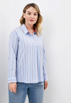 Блуза, Ulla Popken, цвет: голубой. Артикул: UL002EWHSEW6. Одежда / Блузы и рубашки