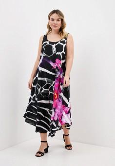 Платье, Ulla Popken, цвет: черный. Артикул: UL002EWHSEY0. Одежда / Одежда больших размеров