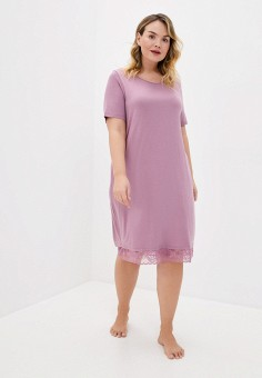 Платье домашнее, Ulla Popken, цвет: фиолетовый. Артикул: UL002EWHSEZ8. Одежда / Домашняя одежда