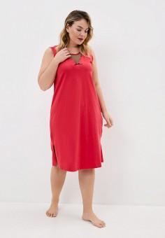 Сорочка ночная, Ulla Popken, цвет: красный. Артикул: UL002EWJDNA5. Одежда / Одежда больших размеров