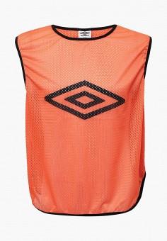 Майка спортивная, Umbro, цвет: оранжевый. Артикул: UM463DUYGJ54. Одежда / Майки