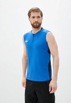 Майка спортивная, Umbro, цвет: синий. Артикул: UM463EMJLIM4. Одежда / Майки