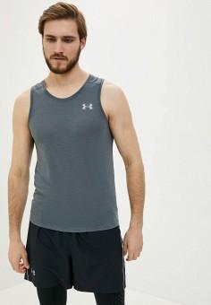 Майка спортивная, Under Armour, цвет: серый. Артикул: UN001EMHZIB5. Одежда / Майки