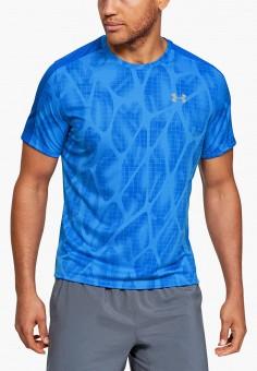 Футболка спортивная, Under Armour, цвет: синий. Артикул: UN001EMHZII3. Одежда