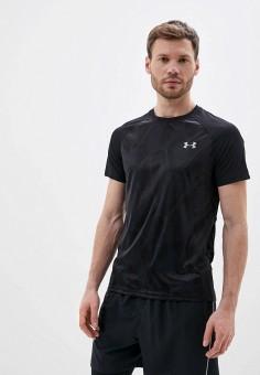 Футболка спортивная, Under Armour, цвет: черный. Артикул: UN001EMHZIK3.