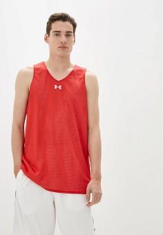 Майка спортивная, Under Armour, цвет: красный. Артикул: UN001EMIPVG8. Одежда / Майки