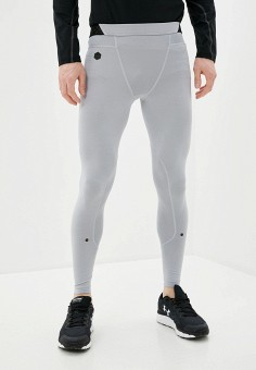 Тайтсы, Under Armour, цвет: серый. Артикул: UN001EMIPVG9. Одежда / Брюки
