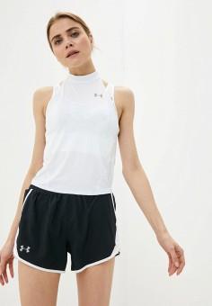 Майка спортивная, Under Armour, цвет: белый. Артикул: UN001EWIRAZ3. Спорт
