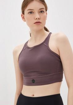 Топ спортивный, Under Armour, цвет: коричневый. Артикул: UN001EWIRBB2. Одежда / Топы и майки