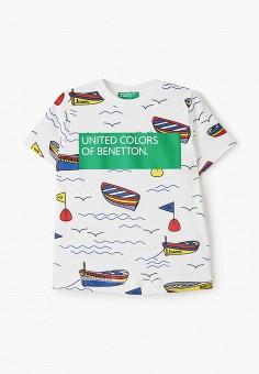 Футболка, United Colors of Benetton, цвет: белый. Артикул: UN012EBHYAT4.
