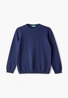 Джемпер, United Colors of Benetton, цвет: синий. Артикул: UN012EBHYBC4. Мальчикам / Одежда