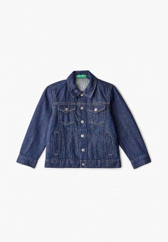 Куртка джинсовая, United Colors of Benetton, цвет: синий. Артикул: UN012EBHYBD7.