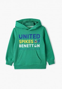 Худи, United Colors of Benetton, цвет: зеленый. Артикул: UN012EBJZKY5.