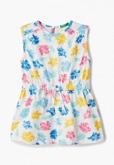 Платье, United Colors of Benetton, цвет: белый. Артикул: UN012EGDXAF2.