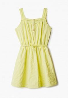 Сарафан, United Colors of Benetton, цвет: желтый. Артикул: UN012EGHXYZ8. Девочкам / Одежда / Платья и сарафаны