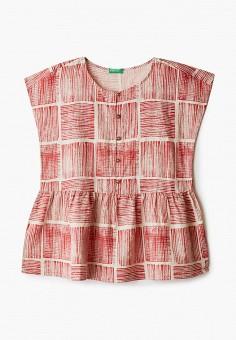 Блуза, United Colors of Benetton, цвет: красный. Артикул: UN012EGHYAO5.
