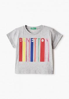Футболка, United Colors of Benetton, цвет: серый. Артикул: UN012EGHYDH7.
