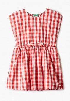 Платье, United Colors of Benetton, цвет: красный. Артикул: UN012EGHYDP8. Девочкам / Одежда / Платья и сарафаны