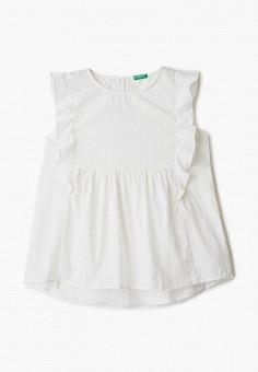 Блуза, United Colors of Benetton, цвет: белый. Артикул: UN012EGHYDR5.