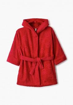 Халат домашний, United Colors of Benetton, цвет: красный. Артикул: UN012EGHYDU7.