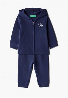 Костюм спортивный, United Colors of Benetton, цвет: синий. Артикул: UN012EGJZME0.
