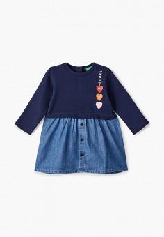 Платье, United Colors of Benetton, цвет: синий. Артикул: UN012EGJZME4.