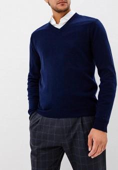 Пуловер, United Colors of Benetton, цвет: синий. Артикул: UN012EMBYPC8. Одежда / Джемперы, свитеры и кардиганы / Джемперы и пуловеры