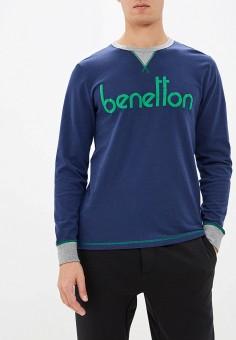 Лонгслив домашний, United Colors of Benetton, цвет: синий. Артикул: UN012EMFUUH8. Одежда / Домашняя одежда