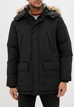 Пуховик, United Colors of Benetton, цвет: черный. Артикул: UN012EMFUVS7. Одежда / Верхняя одежда / Пуховики и зимние куртки / Пуховики