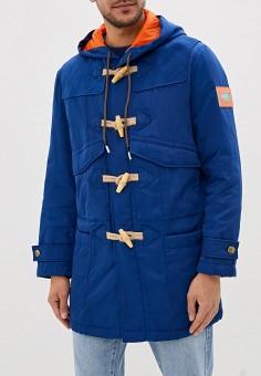 Куртка утепленная, United Colors of Benetton, цвет: синий. Артикул: UN012EMFUVT0. Одежда / Верхняя одежда / Демисезонные куртки