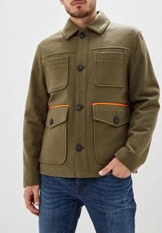 Полупальто, United Colors of Benetton, цвет: хаки. Артикул: UN012EMFUVV6. Одежда / Верхняя одежда / Пальто