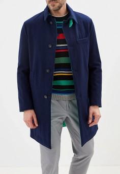 Пальто, United Colors of Benetton, цвет: зеленый, синий. Артикул: UN012EMFUVV7. Одежда / Верхняя одежда / Пальто