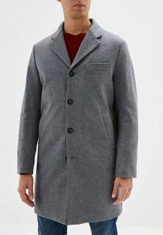 Пальто, United Colors of Benetton, цвет: серый. Артикул: UN012EMFUWO3. Одежда / Верхняя одежда / Пальто