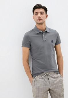 Поло, United Colors of Benetton, цвет: серый. Артикул: UN012EMHWZU2.