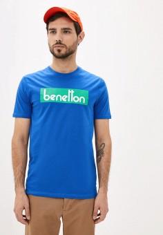 Футболка, United Colors of Benetton, цвет: синий. Артикул: UN012EMHWZW9.