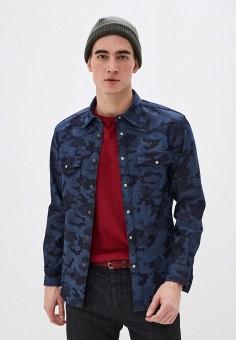 Рубашка джинсовая, United Colors of Benetton, цвет: синий. Артикул: UN012EMHWZY5. Одежда / Рубашки